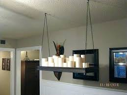 pillar candle chandelier chandeliers make it yourself bed bath and diy mak