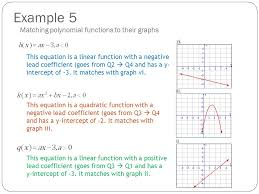 example 5 matching polynomial functions to their graphs
