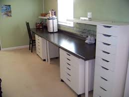 Counter Top Desks Scrapbooking Desk New Countertop Desk With Two Workstations By