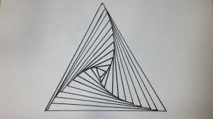 Triangle Design Drawing Easy How To Draw A Triangle Spiral Abstract Drawing 200 Subscriber Special