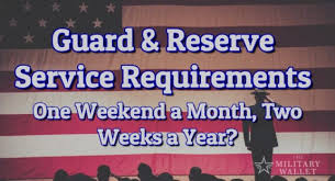Guard Reserve Service Requirements One Weekend A Month