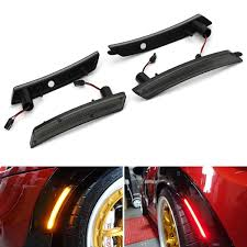 Mini Cooper Marker Lights Smoked Lens Amber Red Full Led Side Marker Light Kit For 2007 2013 14 Mini Cooper R55 R56 R57 R58 R59 R60 R61 Powered By Total 160 Smd Led