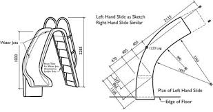 curved slide curved swimming pool slide 7 5ft high