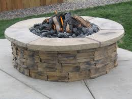 Stacked Stone Fire Pit decorating cool stacked stone of limestone for firepits design 6059 by xevi.us