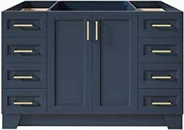 9 Full Extension Dovetail Drawer Toe Kick 2 Soft Closing Doors Ariel 48 Inch Midnight Blue Bathroom Vanity Base Bathroom Sink Vanities Accessories Kitchen Bath Fixtures