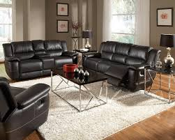 bonded leather reclining sofa set