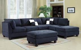 52 Navy Blue Sectional Sofa Modern Navy Blended Linen Sectional And Also  Attractive Navy Blue Sectional