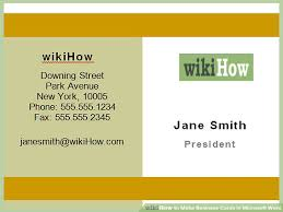 make business card in word how to make business cards in microsoft word with pictures