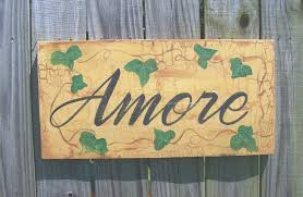 rustic kitchen sign amore sign tuscany sign love valentine sign wedding gift cute wall decor quote on sign country kitchen sign