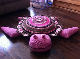 Free Crochet Turtle Pattern Amazing Wonderful DIY Crochet Sea Turtle Rug With Free Pattern