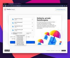 Firefox Send ermöglicht kostenlosen Dateiaustausch bei voller ...