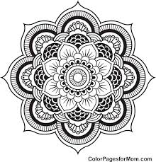 Small Picture Mandala 4 Advanced Coloring Page