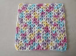 Easy Crochet Dishcloth Patterns Extraordinary Free V Stitch Dishcloth Pattern