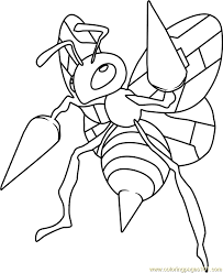 pokemon coloring pages beedrill