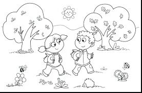Coloring Pages Free Printable Animals Fall Image Preschool