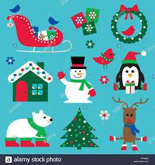 Weihnachten Symbole Clipart Grafiken Vektor Abbildung Bild