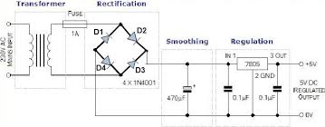 convert ac to dc circuit diagram info steps to convert the 230v to 5v dc to powerup the circuits wiring circuit
