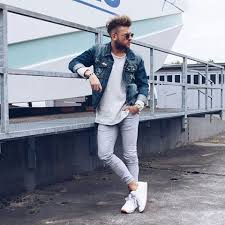 reebok shoes for men style. super #cool #outfit by @renegaert #grey #sweat #jeans #jacket reebok shoes for men style r
