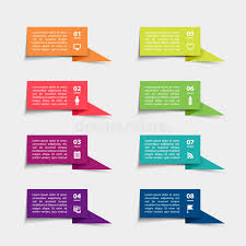 Chart Paper Presentation Vector Paper Flag Stickers And Labels With Realistic Shadows