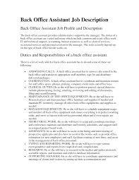 Office Assistant Job Description Resume 2016