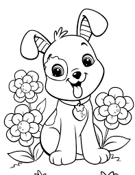 Small Picture dog coloring pages for girls Just Colorings