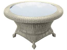 forever patio carlisle wicker 36 round rotating table with glass top fp car rcht al