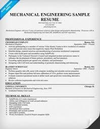Sample Resume Mechanical Engineer Mechanical Engineer Resume for Fresher Resume Formats Resume 30