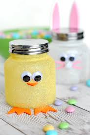 Cute Easter Craft Easy Easter Candy Jars Crazy Little Projects