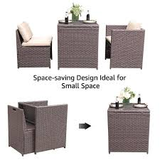3 piece wicker outdoor dining set