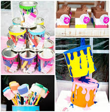 painting party with lots of really fun ideas via kara s party