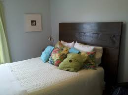 Bedroom  White Foam Headboard In Grey Wall Bedroom Idea Creative - Grey wall bedroom ideas