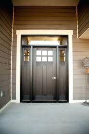 exterior doors six lite craftsman style fiberglass door stained ebony paint faux wood front door front