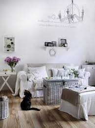Shabby Living Room Living Room Vintage Shabby Chic Decor With Distressed Wall And