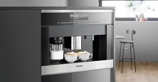 The Miele built-in plumbed coffee system ...