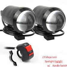 Motorbike Fog Lights Details About 2x Cree U1 Lens Fisheye Led Motorbike Headlight Driving Fog Light Spot Lamp 100m