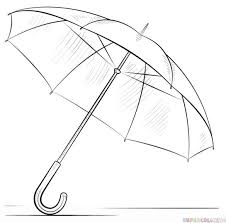 how to draw an umbrella step by step drawing tutorials for kids and beginners crafty drawings tutorials and sketches