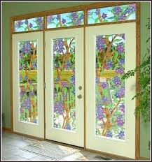stained glass window covering see through panels for doors winter church decorative desi