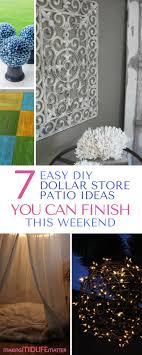 7 Easy DIY Dollar Store Patio Ideas You Can Finish This Weekend ...