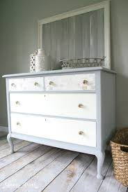 gray and white dresser. Pretty Grey And White Dresser Makeover The Top Drawers Are Decoupaged Full Tutorial Plus With Gray