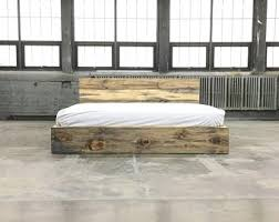 Image Cal King The Butte Platform Loft Style Solid Wood Handmade In Usa Etsy King Bed Frame Etsy