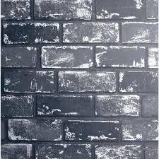 arthouse metallic brick black silver