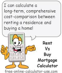Comprehensive Mortgage Calculator Rent Vs Buy Mortgage Calculator Includes Home Ownership Expenses