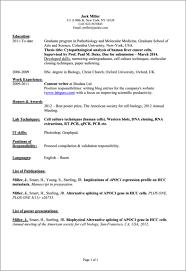 Preparing A Resume Tips For Preparing A Cv For Scientists Teacher Resume