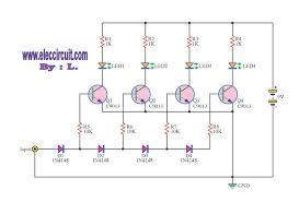 analog vu meter circuit using transistors led vu meter circuit by transistor