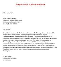 7 Mba Recommendation Letter Pdf Word Doc Mous Syusa