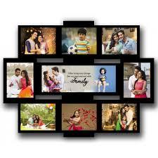 personalised wooden multi photo family collage rectangular frame large