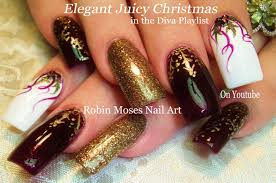Gold Snowflakes and Holly | DIY Christmas DIVA Nail Art Design ...