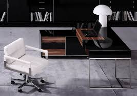 contemporary office desk. Ezra Contemporary Office Desk T