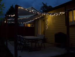 backyard patio with nice string lights light ideas socialmouthco also diy images diy patio light string