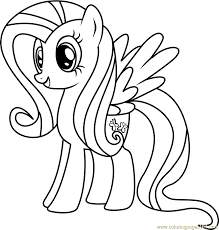 Small Picture Fluttershy Coloring Page Free My Little Pony Friendship Is